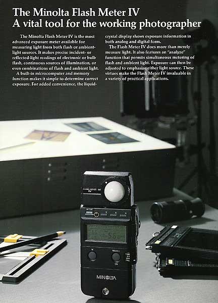 Minolta iv f light meter manual.